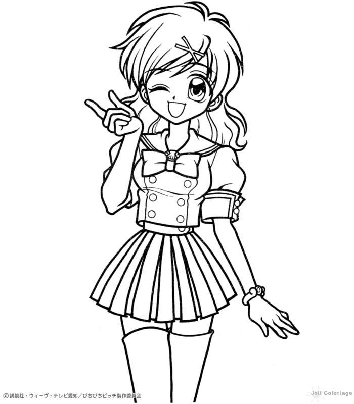 sirene manga coloriage