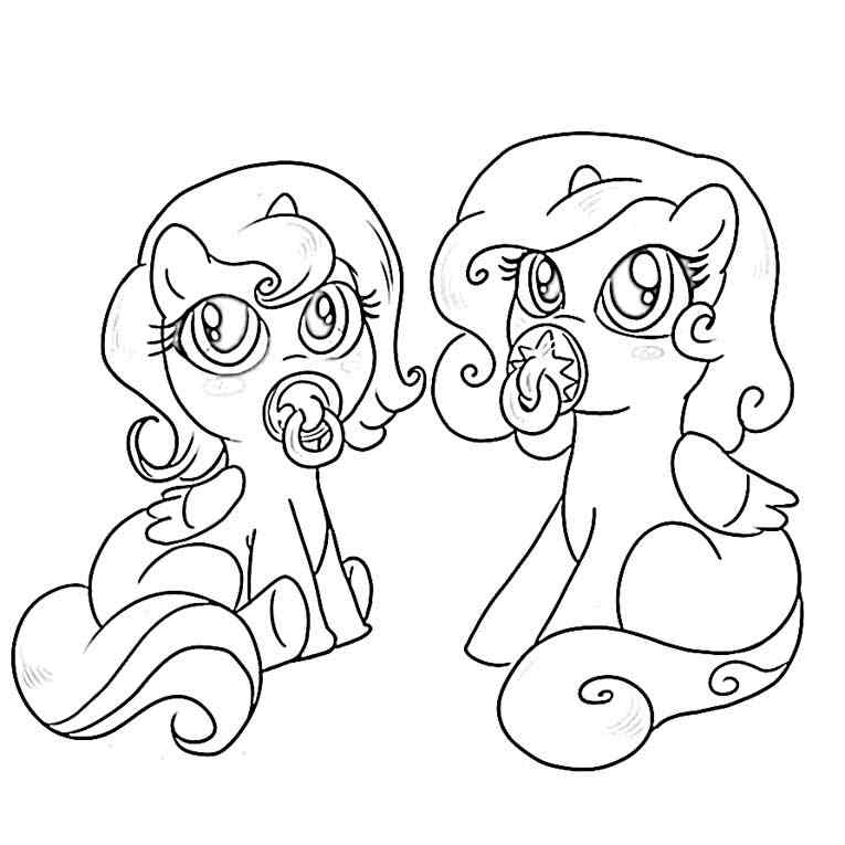 my little pony christmas Colouring Pages
