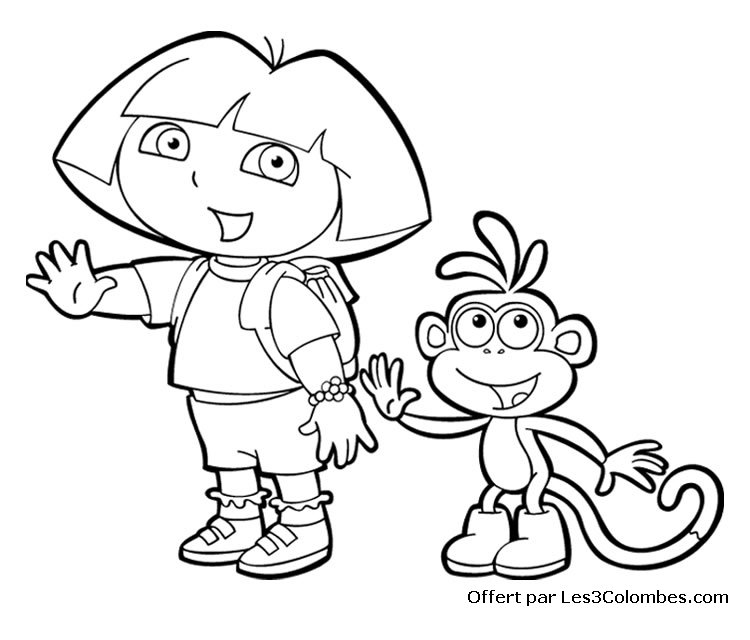 Coloriage Interactif.Coloriage Interactif Dora Az Coloriage