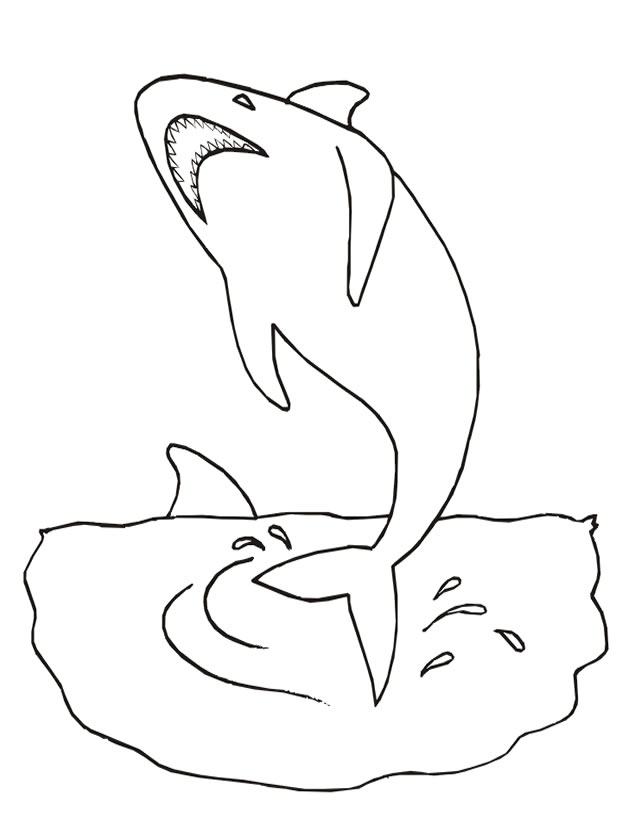 Coloriage requin