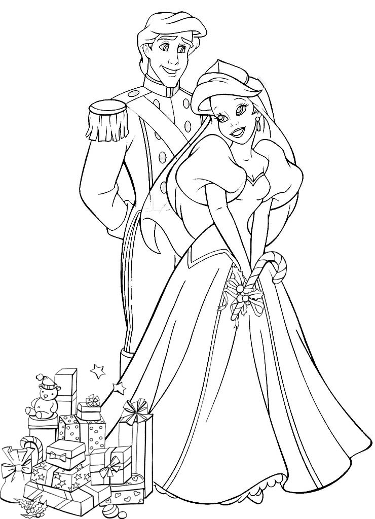 Coloriages de Noël (Disney, princesses) | Linosqui