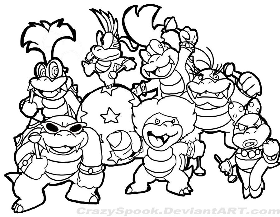 Old Mario Colouring Pages