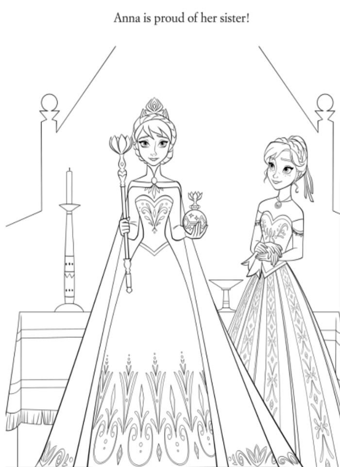 Artwork - Coloriages frozen reine neiges, best images concepts art