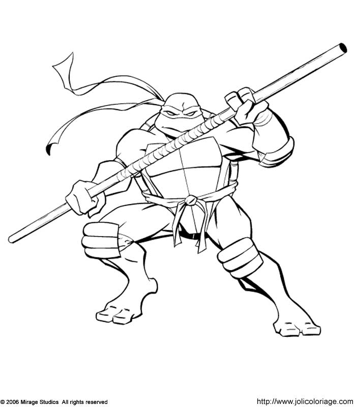 ninja turtle Coloriage