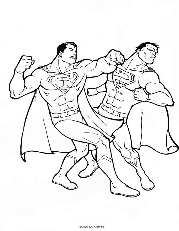 Coloriage Superman A Colorier Allofamille Az Coloriage