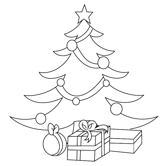 christmas tree Coloriage