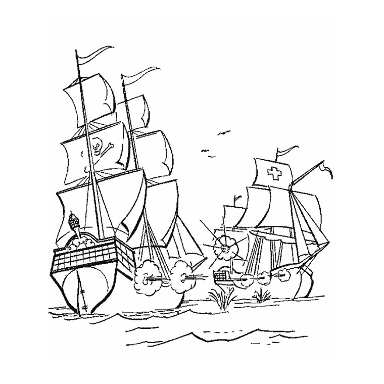 Coloriage Bateau Capitaine Crochet.Capitain Crochet Az Coloriage