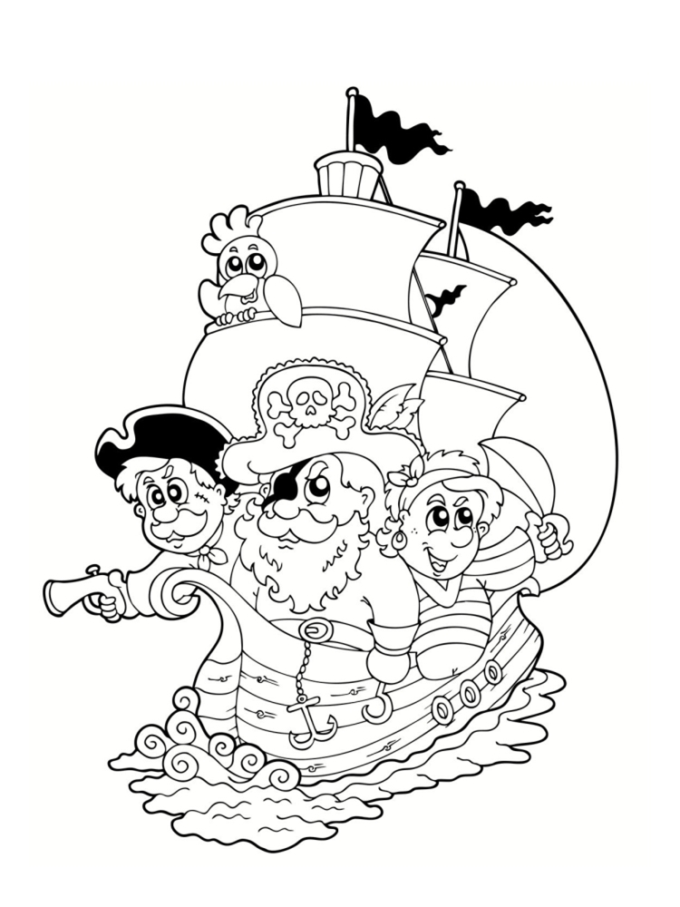 Coloriage pirate : 25 dessins à imprimer