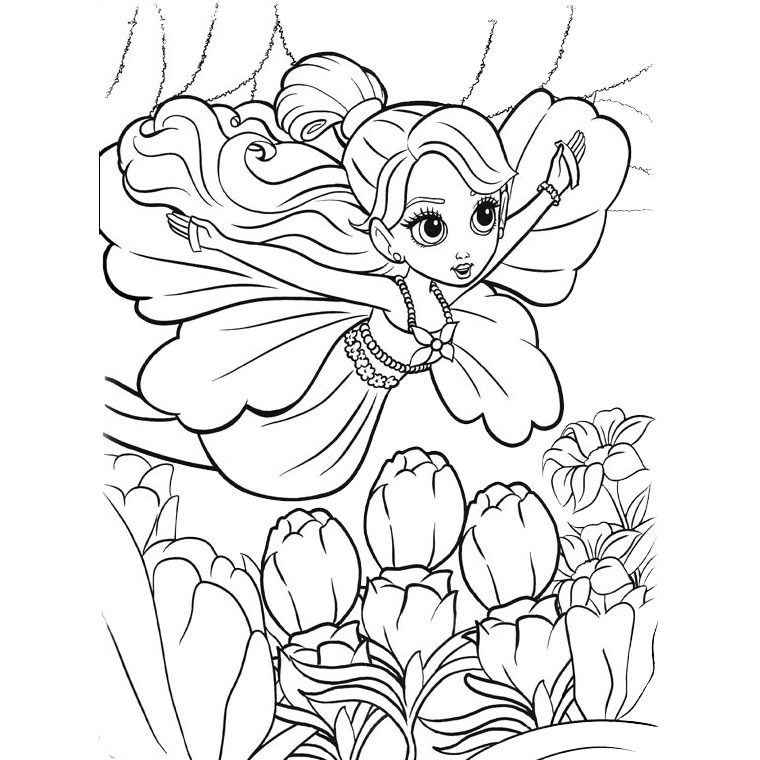 Barbie Thumbelina Coloriage