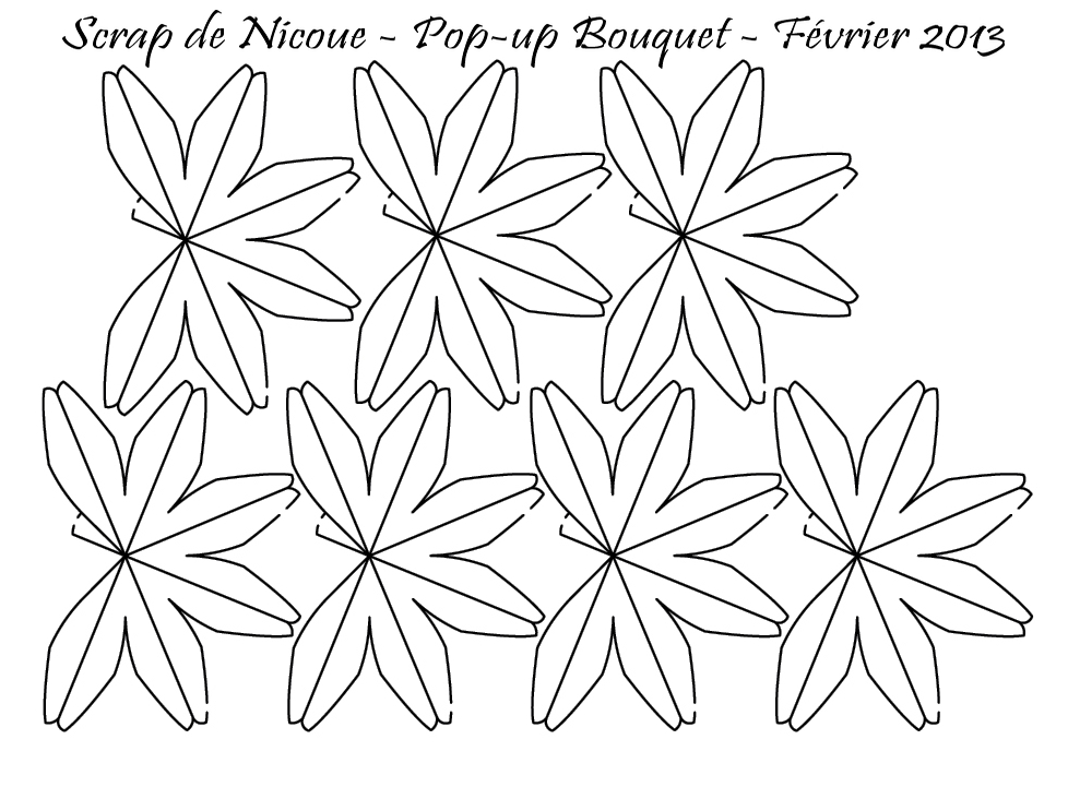 Une carte pop-up bouquet de fleurs... - le scrap de Nicoue