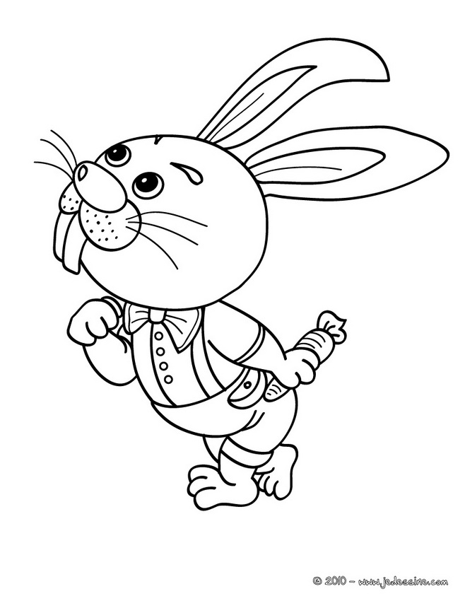 Coloriages de Lapins - Coloriage de lapins