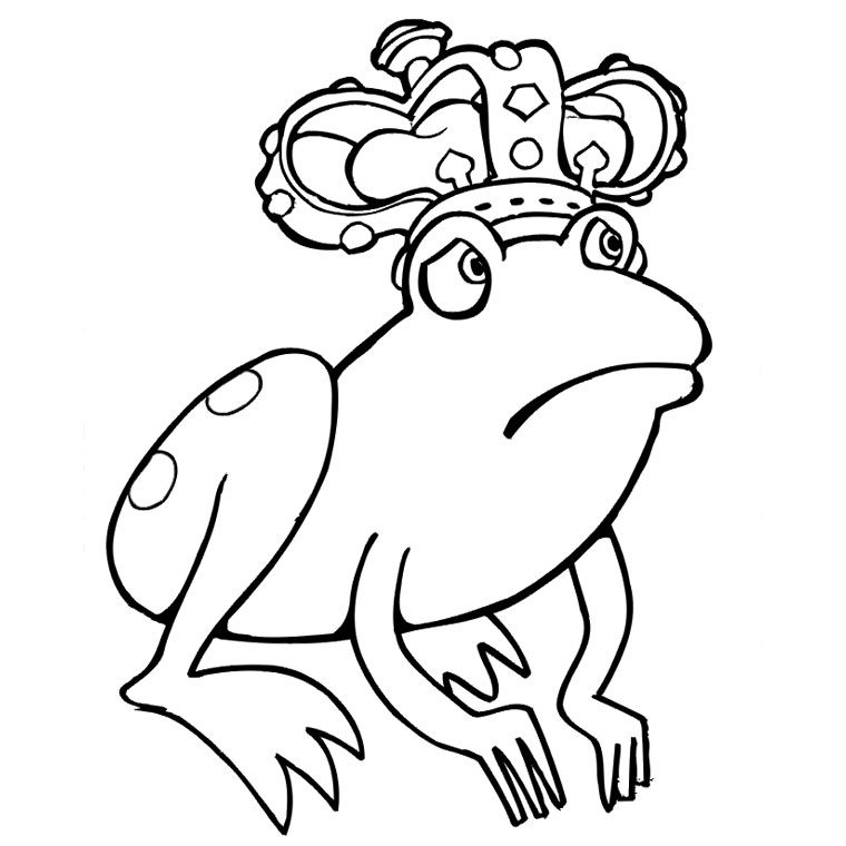 princesse grenouille Coloriage