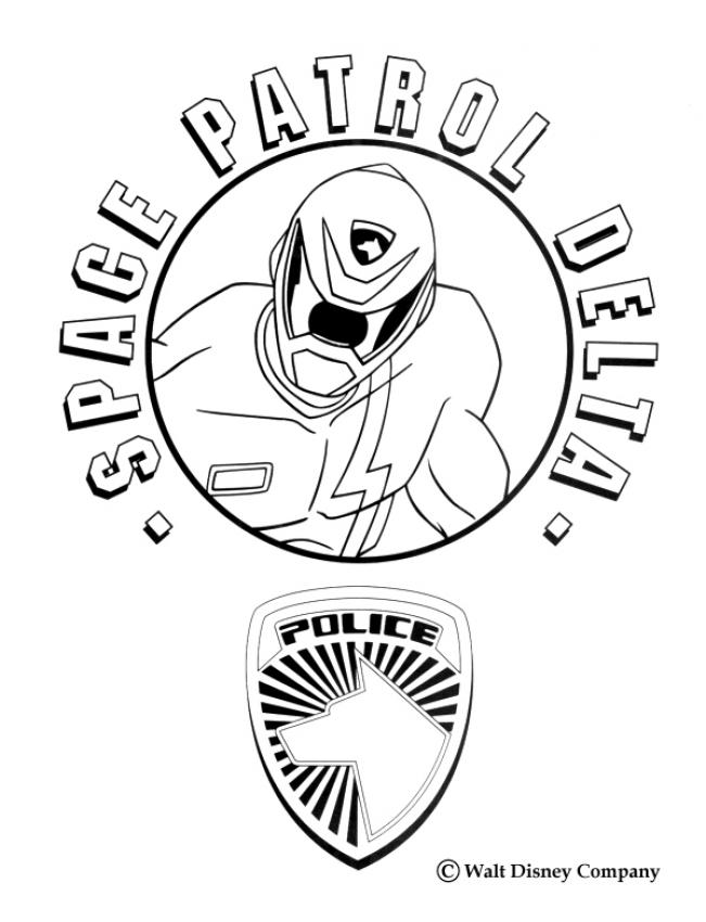 Coloriage POWER RANGERS - Space Patrol Delta Police