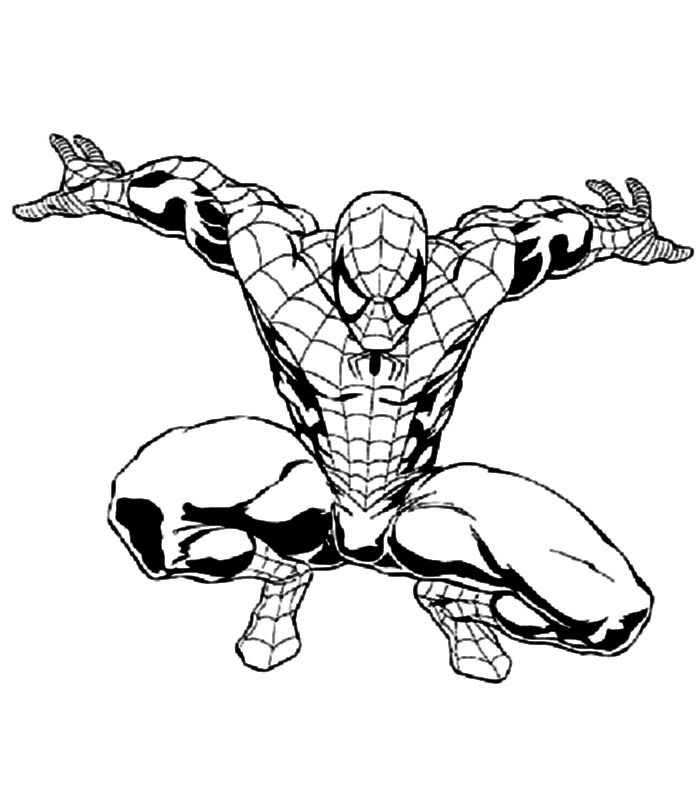 Coloriage de Spiderman | 321 Coloriage