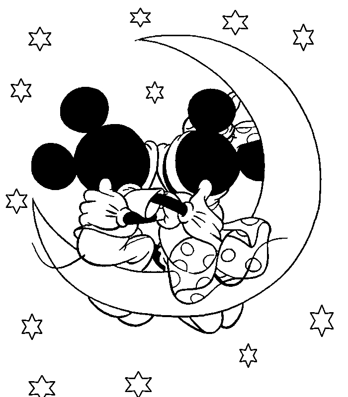 Free Printable Disney Mickey Mouse Cartoon Coloring Pages
