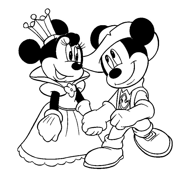 dessin a colorier mickey mouse et minnie - Dessin De Mini