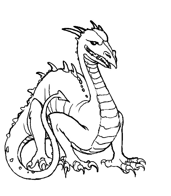Dessins à colorier dragon Coloriages pour enfants