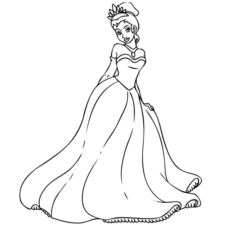 princess d Coloriage