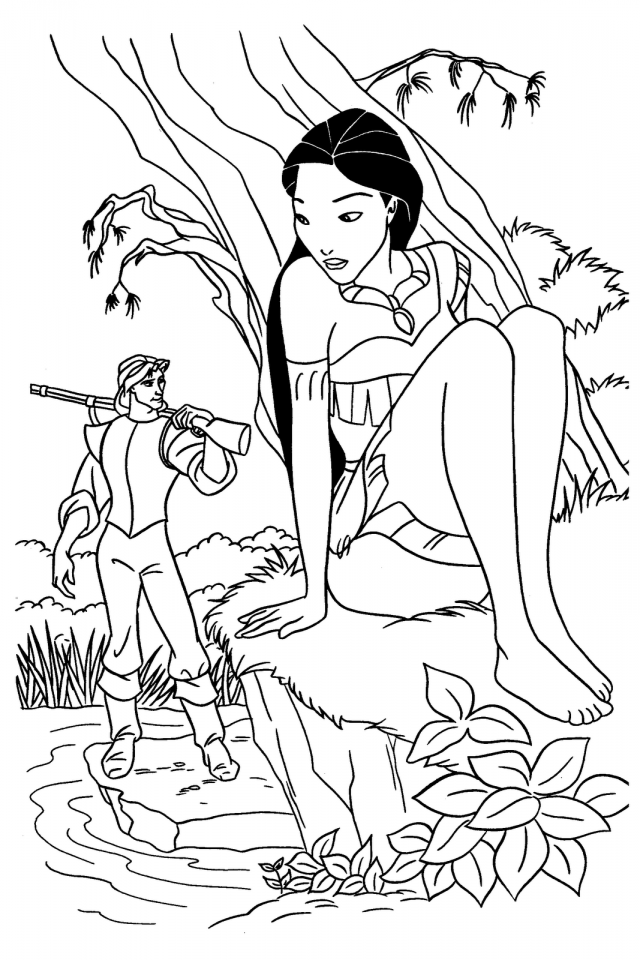 Disney Princess Pocahontas Coloring Pages | download free