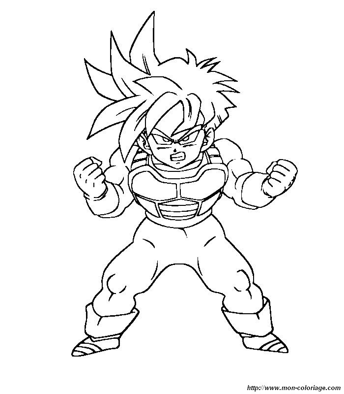 Coloriage de Manga Dragon Ball Z, dessin 023 à colorier