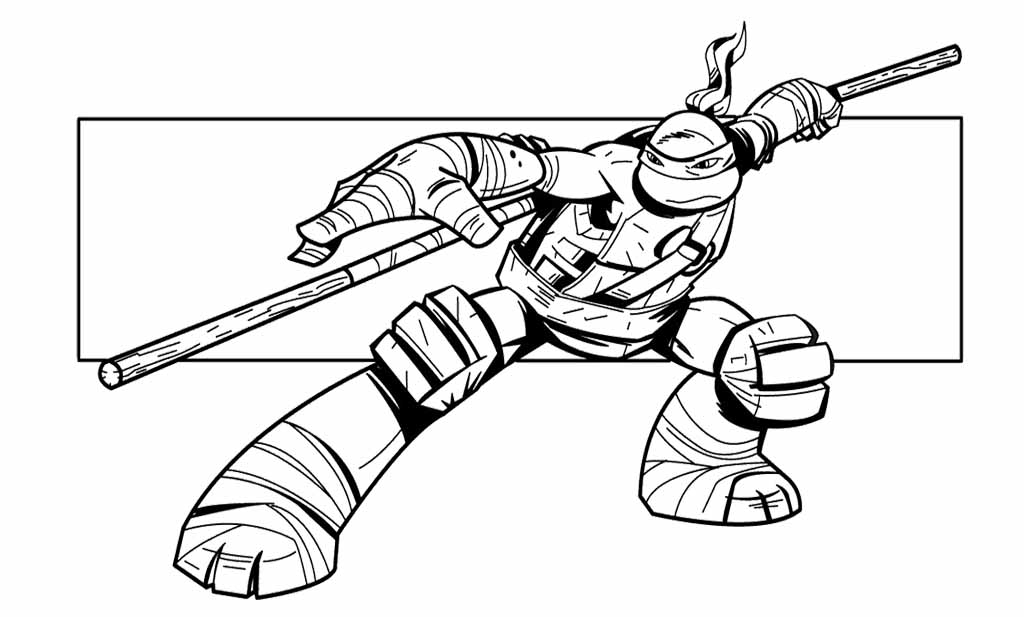 Kleurplaten Teenage Mutant Ninja Turtles.Turtles Ninja Az Coloriage