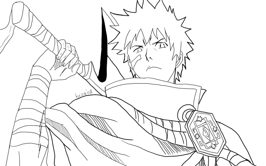 bleach coloring book pages - photo#2