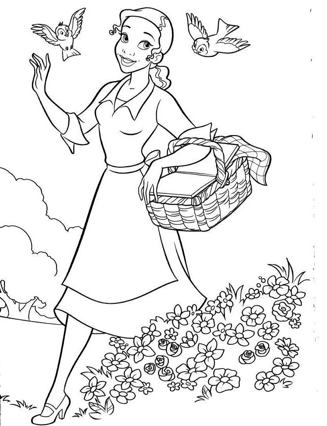 Tiana Disney Princess Coloring Pages Disney Coloring Pages