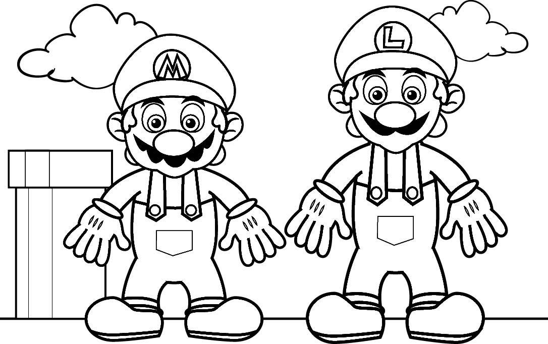 Dibujos Para Pintar De Mario Bros. Dibujos Para Colorear De Mario ...