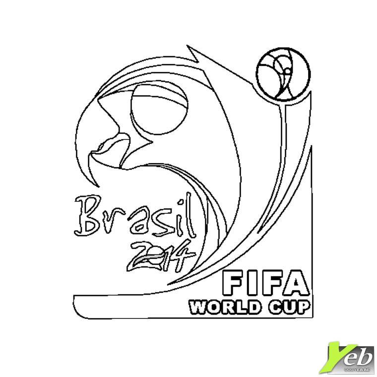 Coloriage La Coupe Du Monde 2014 Au Brésil Dans La Catégorie