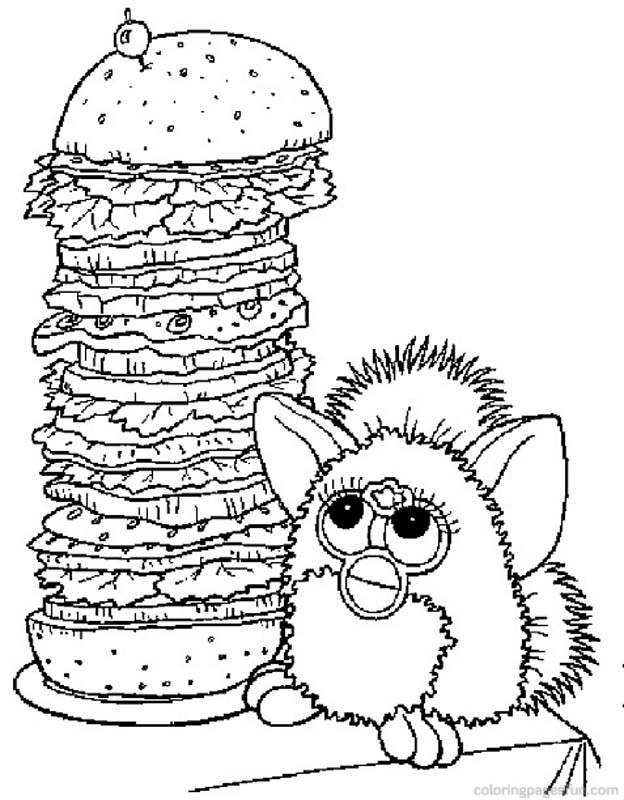 Furby Coloring Pages 2 - Free Printable Coloring Pages