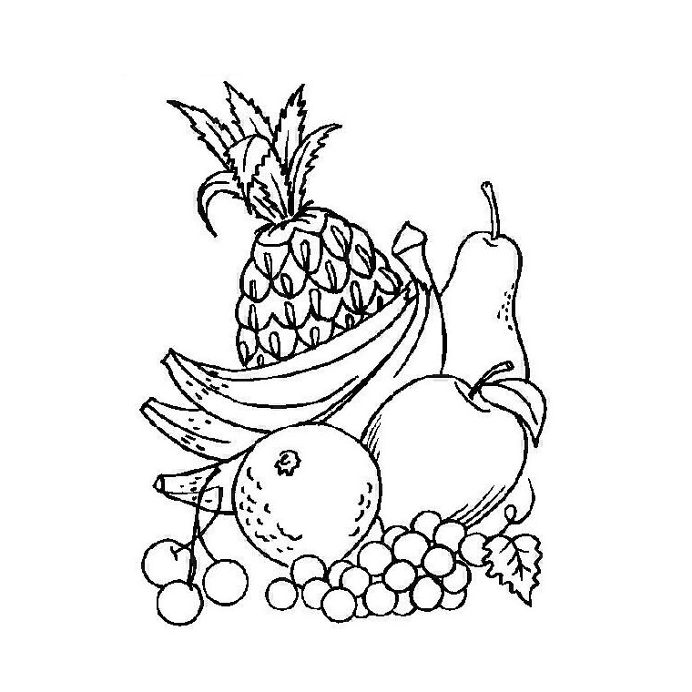 Coloriage Fruits Tropicaux.Coloriages Fruits Az Coloriage