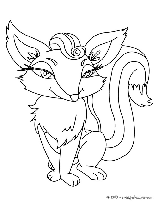 Coloriages de Renards - Coloriage d'un RENARD roux
