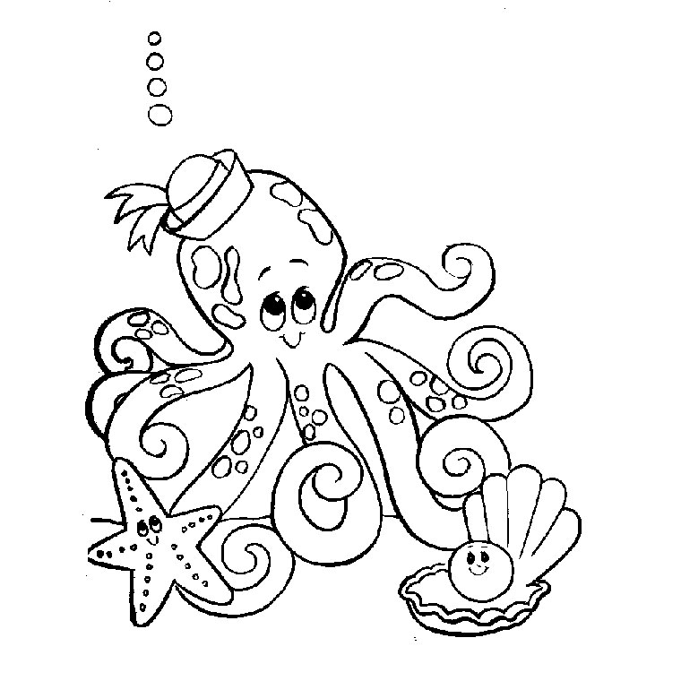 Photo Coloriage Animaux Aquatique : image gratuite Coloriage