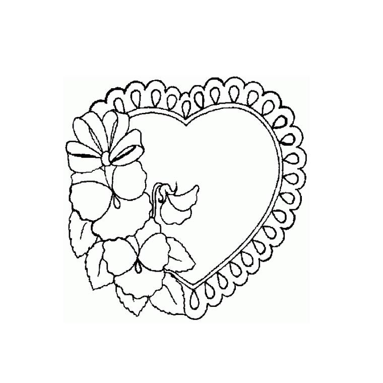 Coloriage Mandala Coeur Fleur Coloriage - AZ Coloriage