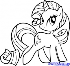 my little pony rarity Coloriage