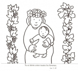 assomption ste marie Coloriage