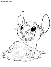 coloriage de stitch Coloriage