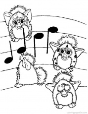 FURBY Colouring Pages (page 3)