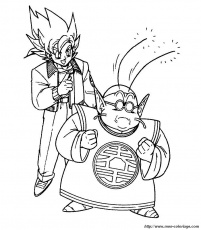 Coloriage de Manga Dragon Ball Z, dessin 012 à colorier
