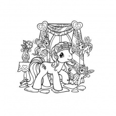 Coloriage Pet Shop Poney a Imprimer Gratuit