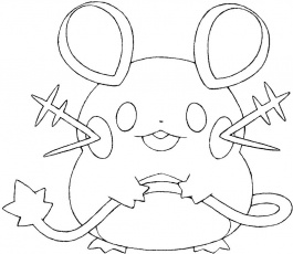 Coloriage Pokemon X et Y : Dedenne 1