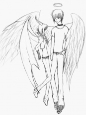 Angel and demon by Lucie-P on deviantART
