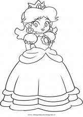 daisy mario bros Colouring Pages