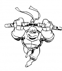 ninja turtle Michelangelo Colouring Pages (page 2)