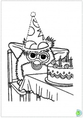 furby in love Colouring Pages (page 3)