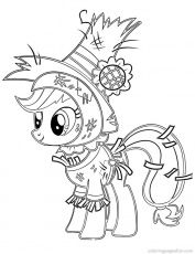 My Little Pony Coloriage Applejack | Cartoon Coloring Pages