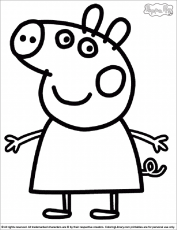 peppa pig color Colouring Pages (page 2)