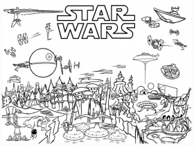 Star Wars coloriage