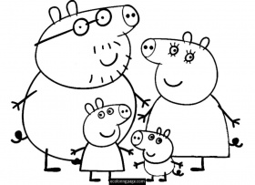 peppa ping Coloriage