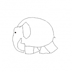 Pin Coloriage Elephant A Imprimer Gratuit on Pinterest